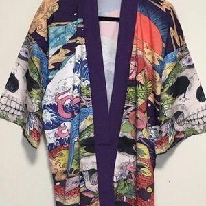 Japanese kimono Robe Unisex size Large